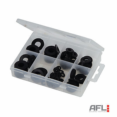 120 Piece Rubber Washers Pack - Assorted Sizes