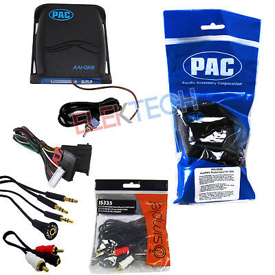 AAI-GM9 Auxiliary Input Adapter & IS335 Aux/RCA Cable Extender for GM Vehicles