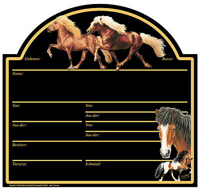138582) Stable Panel Stall Sign Collection Boetzel Messe- novelty Horse