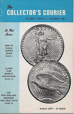 Vintage The Collector's Courier Vol 1, Issue 2, Oct 1967, Coins