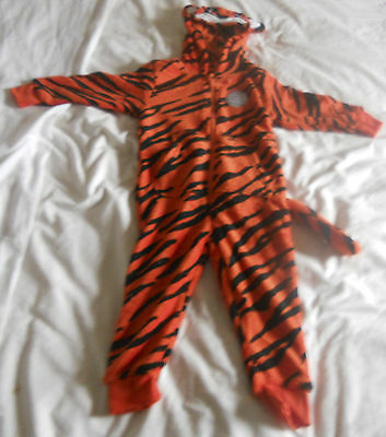 Tiger Onesie With Hood, Ears and Tail! - Sizes 2-3 Years to 13 Years
