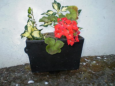 Victorian Cast Iron Wall Rainwater Hopper, Lovely Garden Wall Planter