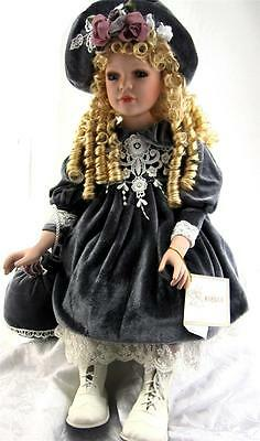 PORCELAIN DOLL GIFT COLLECTIBLE 28'' H LIMITED EDITION