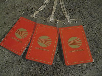 Continental Airlines CO CAL Vintage Playing Card Luggage Name Tag Tags Set (3)