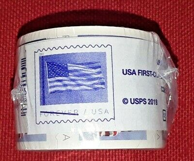 New One (1) Roll /Coil of 2019 US FLAG FOREVER APU 100 Postage Stamps. Sc # 5260
