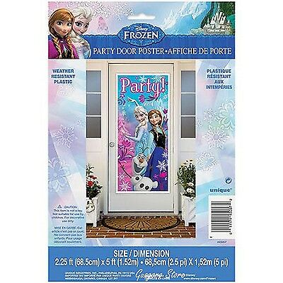 "FROZEN Princess large Door Poster 27""x60"" Elsa Anna Birthday Banner Party Supply"