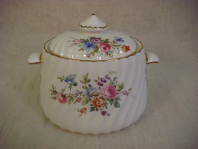 MINTON MARLOWE OVAL SUGAR BOWL WITH LID WITH GLOBE STAMP MADE IN ENGLAND