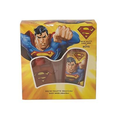 Superman 3.4 oz Boys Eau de Toilette 8.0 oz Body Wash 2 pc Set NEW in Box!!