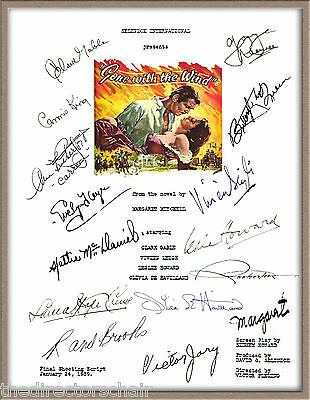 """VIVIAN LEIGH CLARK GABLE VICTOR JORY SIGNED X15 """"GONE WITH THE WIND"""" SCRIPT RPT"""