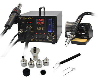 AOYUE-968A+ Repairing System  Digital Hot Air Rework and Soldering Station