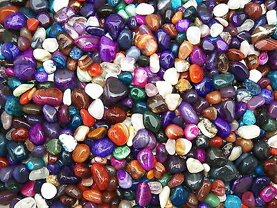 2000 Carat Lots of Size #5 Tumbled Polished Gemstones + A FREE Faceted Gemstone
