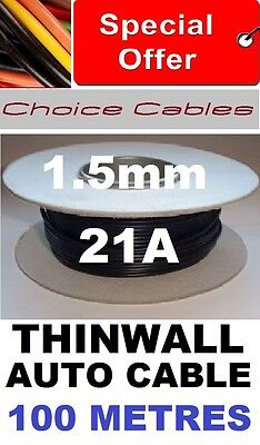 100M Automotive Cable Reel 1.5Mm 21A 12V Car Wire 21/0.3, 1.5Mm 100 Metres