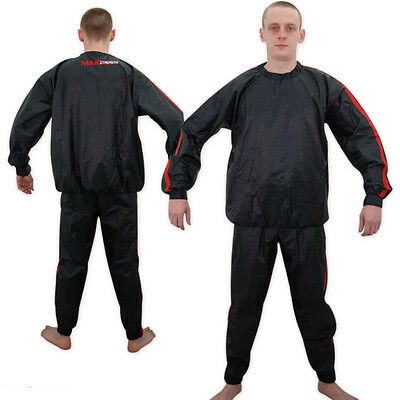 Fight Sauna Sweat Track Suit Gym Fitness Slimming Weight Loss Vinyl skipping Rop