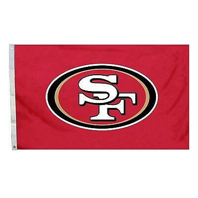 San Francisco 49ers Tailgate Flag 3x5 NFL Deluxe NFL All Pro Banner