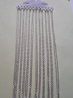 "UK Jewellery 130 Pieces of 18"" x 2mm Silver Trace Necklace Pendant Locket Chains"