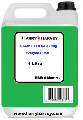 1000ml 1L 1Litre Green FOOD COLOURING Colour Dye liquid CATERING bulk trade pack