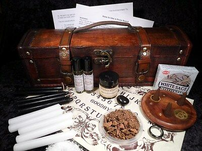 SEANCE SPIRIT COMMUNICATION KIT CHEST ouija board wicca pagan contact dead gift