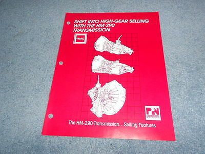 1988 Gm Gmc Truck Hm-290 Transmission Sales Brochure Dealer Nice Original