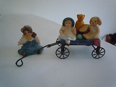 "Vintage Jan Hagara Figurine Phillip""s Wagon Signed  Free Shipping"