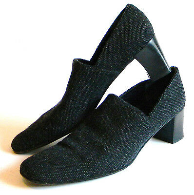 Vintage Lauren by Ralph Lauren Woman\u0027s Shoes Sz 7AA Gray Fabric Uppers Gray  VGUC