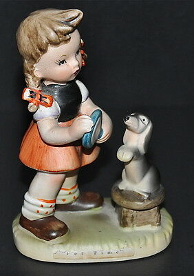Erich Stauffer Porcelain Figurine Pet Time