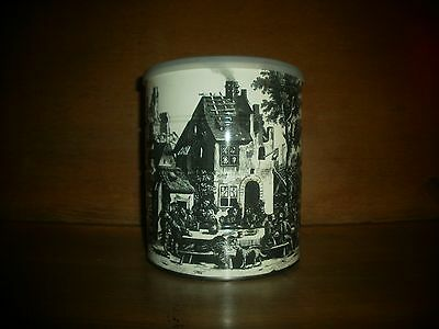 1969 Hills Bros. Coffee Tin with Cream and Black Scene on it