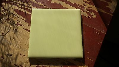 """1Piece Vintage 1950's 4 1/4"""" Square Yellow Ceramic Tile New Old Stock!"""