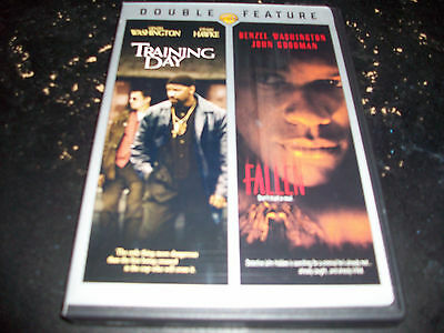 DOUBLE FEATURE: TRAINING DAY & FALLEN!! USED & IN MINT CONDITION!! DENZEL!!!!