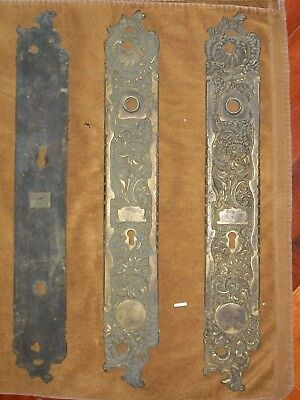 Antique RHCo Belfort Door Knob Backplates