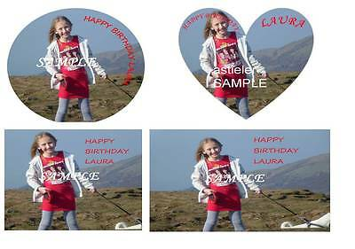 Personalised Photo/Design Cake Topper - Multiple Sizes Up To 11 Inches.