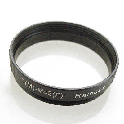 T T2 Male to M42 Female Mount thread lens Adapter converter Ring T-M42 42mm-42mm