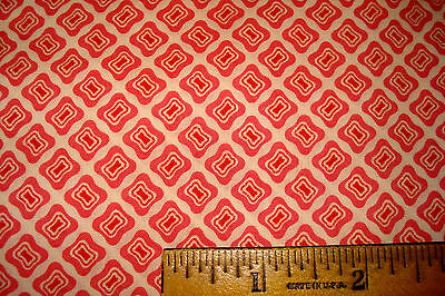 "4 yards 35"" wide VINTAGE 1930s Cotton Fabric Quilting Sewing BUBBLEGUM PINK"
