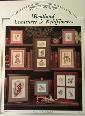Woodland Creatures & Wildflowers Cross Stitch Pattern Booklet