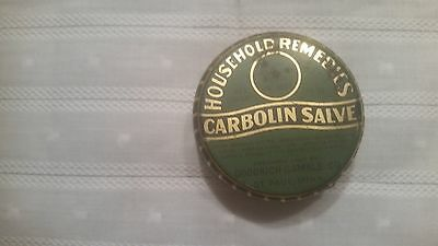 Vintage Household Remedies Carbolin Salve Can