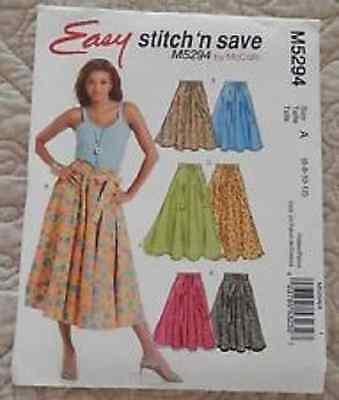 McCalls Pattern Misses Easy Skirt in Two Lengths #M5294 Size 6-12 Un-Cut