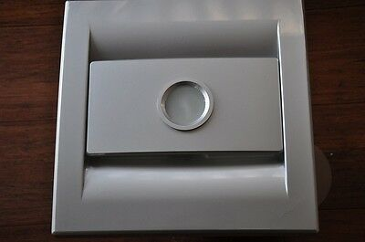 Stainless steel Color SILENT SERIES Bathroom Exhaust Fan,85CFM,FLUORESCENT LIGHT