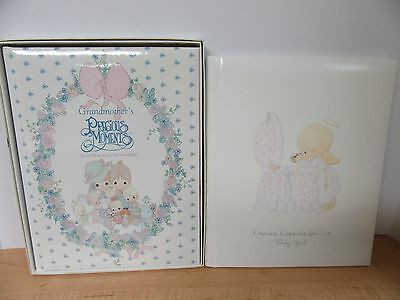 2 Precious Moments Baby Album Grandmothers Memory for Grandchild & Baby Girl