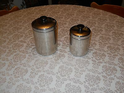 Vollrath Stainless Steel Ware, 2 Piece Canister Set    #8811, 8812