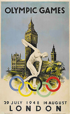 0187 Vintage Travel Poster London Olympic games  1948