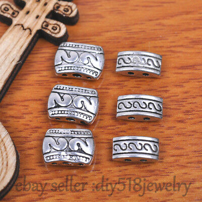 20s 2/3 hole spacer bead Tibet silver metal Charm Diy Jewelry Bracelet Necklace