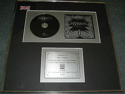 The Hoosiers - The Trick To Life - BPI 500,000 sold 2008 - Presentation Disc