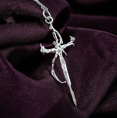 K Project The Sword of Damocles Necklace Pendant 925 Silver Cosplay Gift S BC