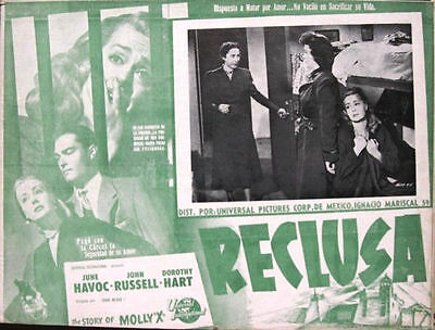 """L039 The Story of Molly """"X""""  original Mexican Lobby card"""