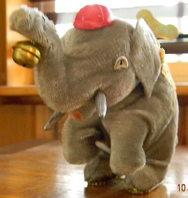 OCCUPIED JAPAN WIND UP DANCING ELEPHANT WWII 1949-1952 TOY-WORKS & KEY-Adults