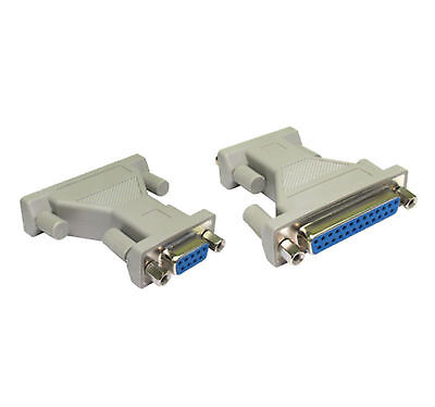 9 Pin Serial RS232 DB9 Female to DB25 Pins Female AT Parallel Adapter Projector