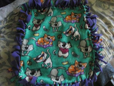 No Sew Fleece Cat Print Cat Blanket
