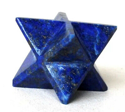 Reiki Energy Charged Lapis Lazuli Merkaba Star Natural Crystal Chakra Healing