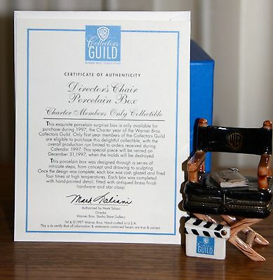 Warner Bros Collectors Guild | Directors Chair | Rare Charter Member Piece | COA