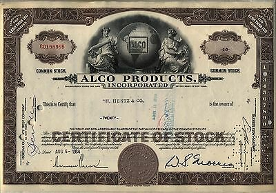 Alco Products Stock Certificate Brown American Locomotive