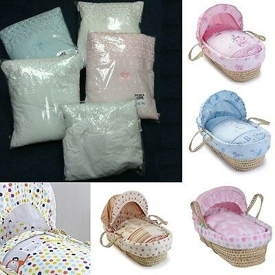 Moses Basket Replacement Covers Ba Various Colours Pink Blue White New